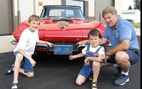 Bob Lorius (owner) with grandsons Aaron and Zach