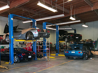 Aston Martin auto body repair service collision center at San Francisco Motorsports