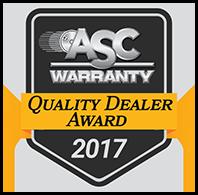 asc 2019 quality dealer award