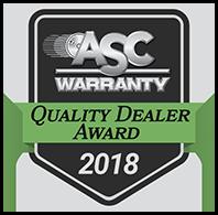 asc 2018 quality dealer award