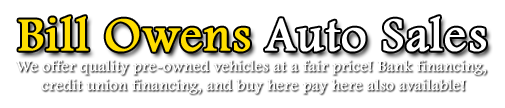 Bill Owens Auto Sales Logo