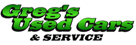 Greg's Used Cars and Service Logo
