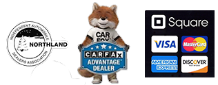 We accept Square, offer carfax and are members of the Northland Independent Car Dealers Association