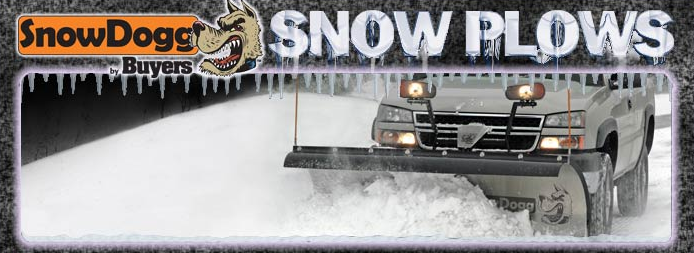 SnowDogg snow plow on truck