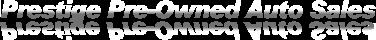 Prestige Pre-Owned Auto Sales Logo