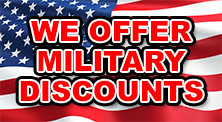 We Offer Military Discounts