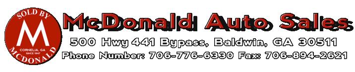 McDonald Auto Sales Logo