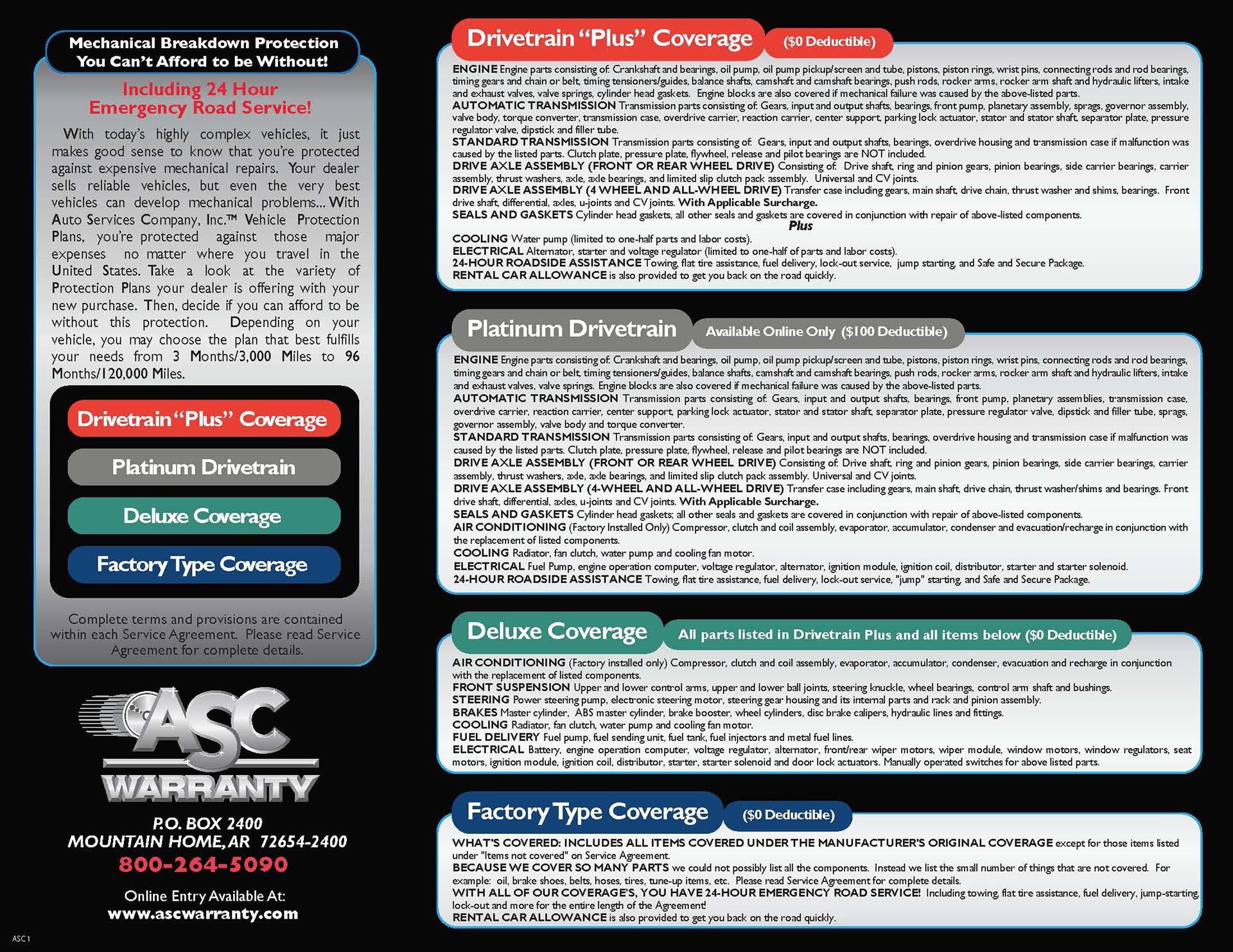 ASC Warranty Banner