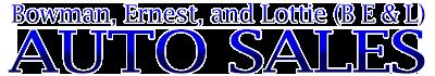 B E & L  AUTO SALES Logo