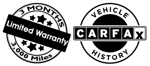3 Month Limited Warranty, CarFax Vehicle History Images