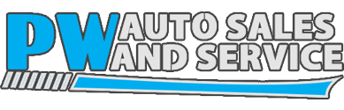 P W Auto Sales & Service Logo