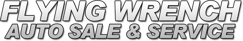 Flying Wrench Auto Sale and Service Logo