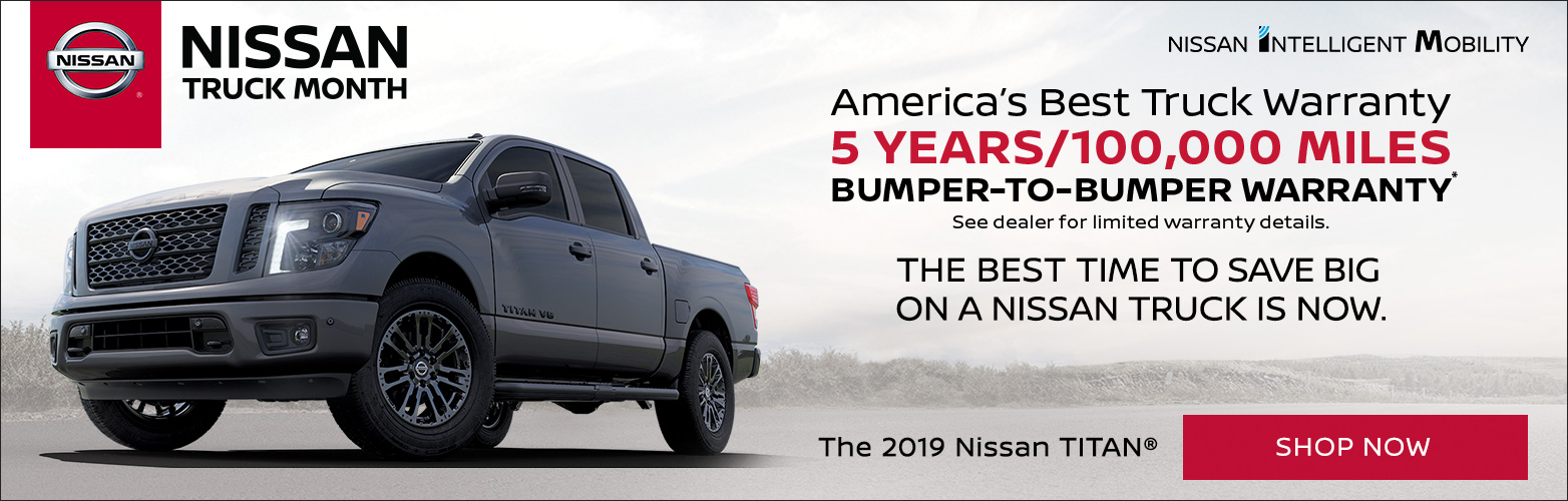 Nissan Truck Month promotional bannber