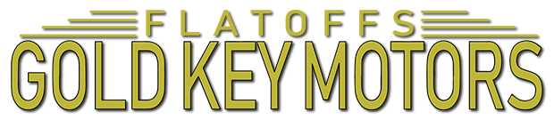 Flatoff's Gold Key Motors Logo