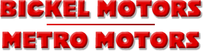 Bickel Motors / Metro Motors Logo