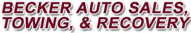 Becker Auto Sales, Towing, & Recovery Logo