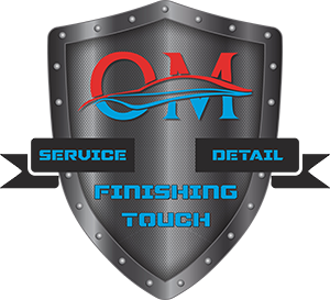 OM detailing logo