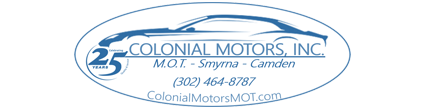 Colonial Motors MOT Logo