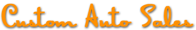 Custom Auto Sales Logo