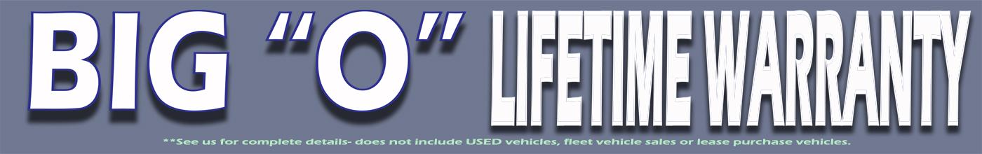 Big O Lifetime Warranty Banner