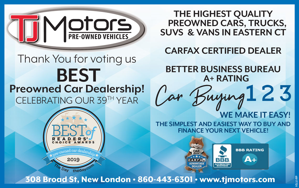 Car Buying 123 graphic on TJ Motors website
