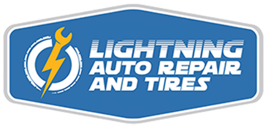 Lightning Auto Repair and Tires Logo