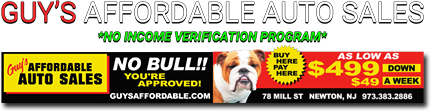 Guy's Affordable Auto Sales Logo