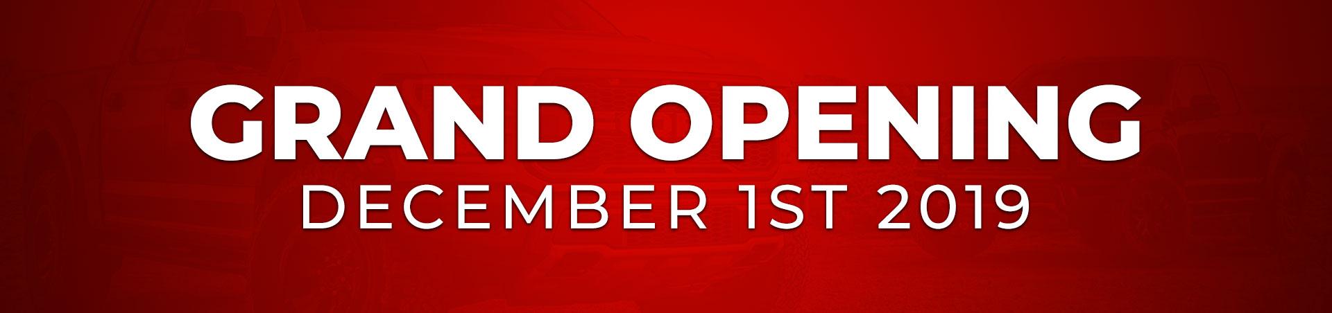 Grand Opening - December 1st 2019