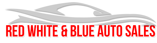 Red White & Blue Auto Sales Logo