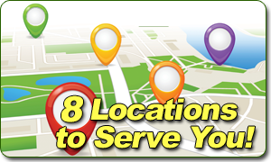 8 locations to serve you