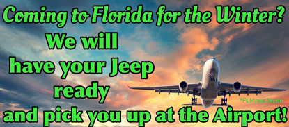 We will have your Jeep ready and pick you up at the airport