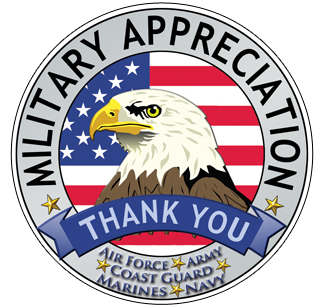 Military appreciation thank you graphic