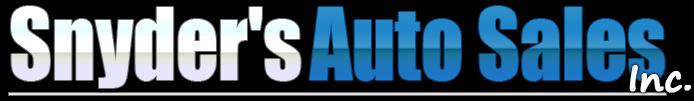 Snyder's Auto Sales Inc. Logo