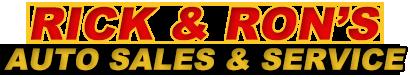 Rick & Ron's Auto Sales & Service Logo