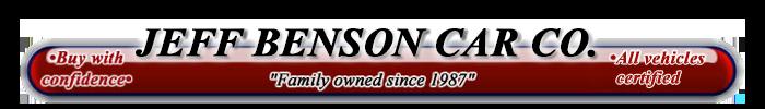 Jeff Benson Car Company Logo