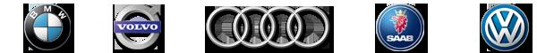 BMW,Volvo,Audi,Saab and Volkswagen Banner