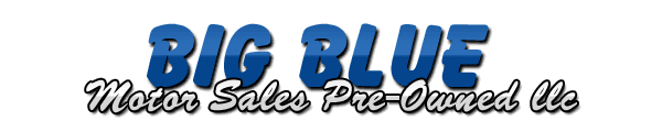 Big Blue Motor Sales Pre-Owned Logo