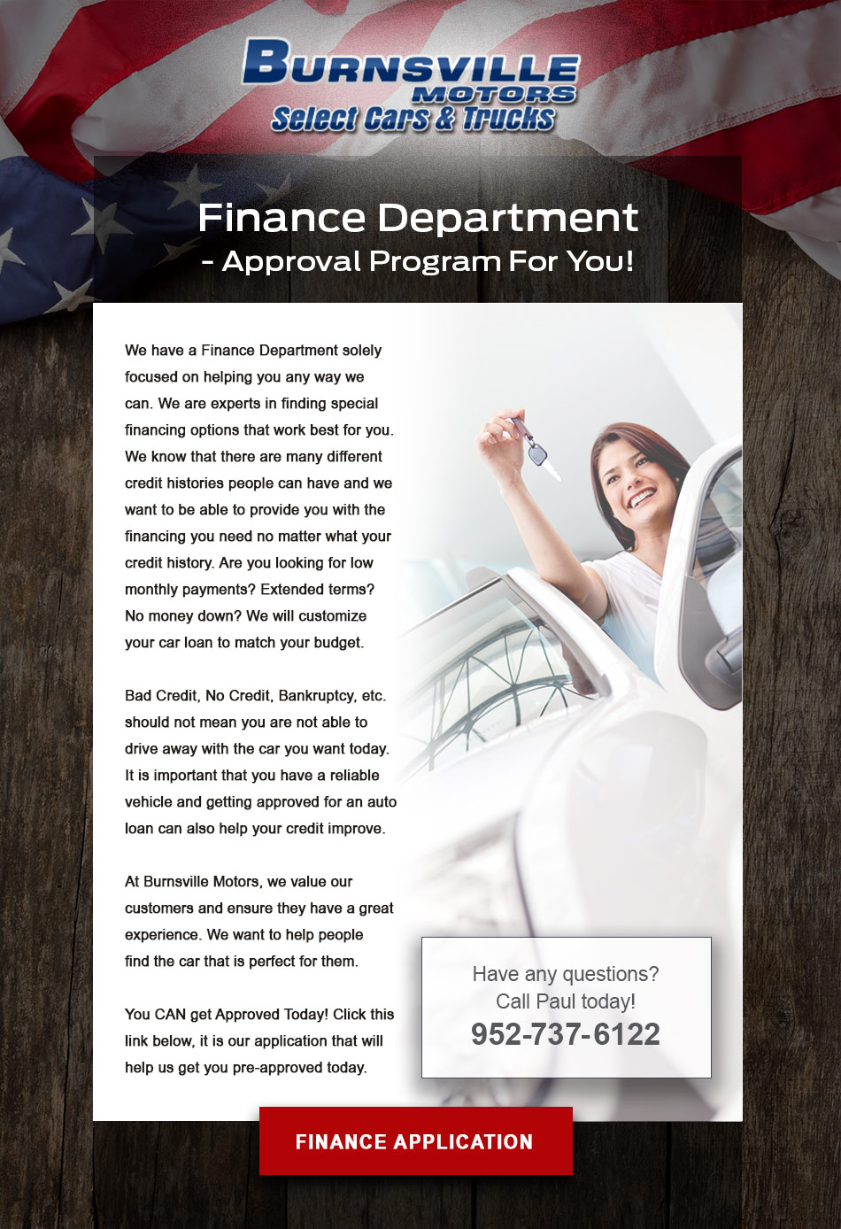 Finance Department - Approval program for you