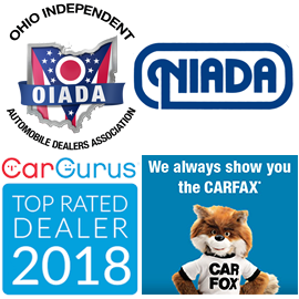 Carfax, CarGurus, OIADA, NIADA logos