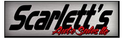 Scarlett`s Auto Sales Logo